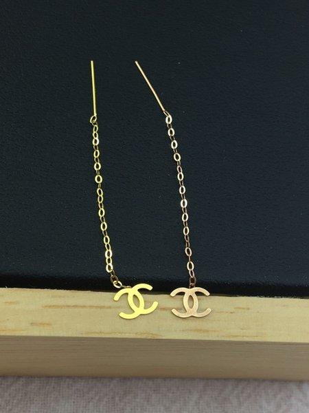 18k Gold Xiaoxiang Ear Thread-k Yellow