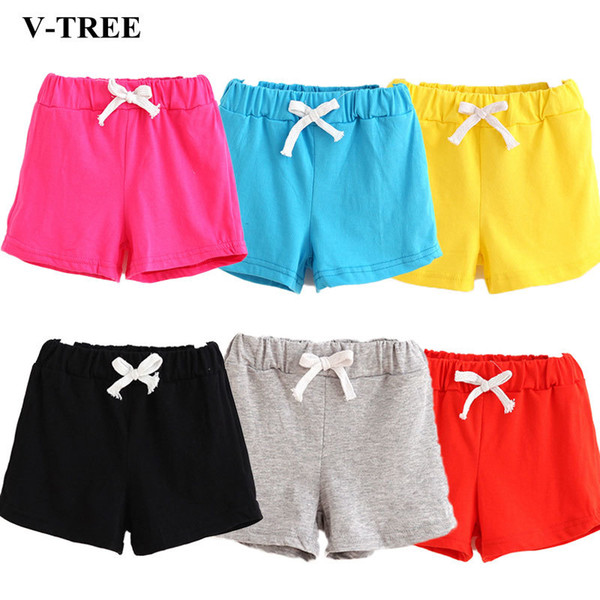 best selling V-TREE Girls Shorts Summer Shorts For Boys Cotton Kids Children Beach Clothes Toddler Baby Clothing Pants