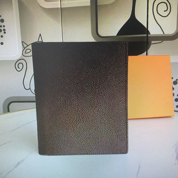 best selling R20100 Memo Medium Agenda Notepad Cover White Paper Notebook Real Leather Office Journal Jotter Credit Card Holder Slots With box