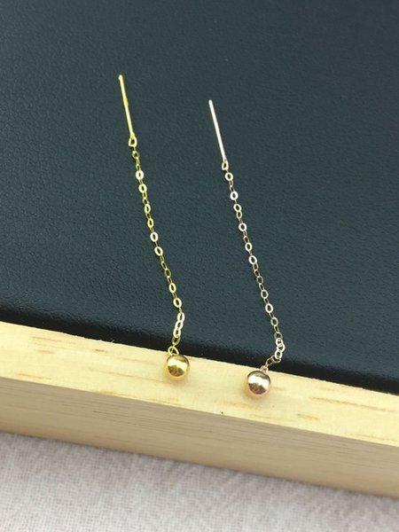18kgold Bubble Ear Line-k Yellow
