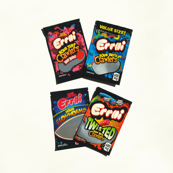 best selling Errlli Sour terp Crawlers Bag 3.5g Very Berry Childproof Vape Mylar Bags Child Proof Packaging Bags Free Shipping