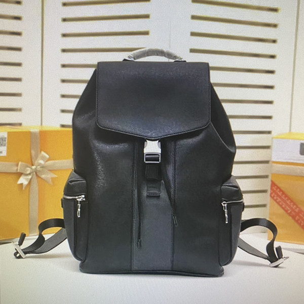 best selling 30417 Top Quality Real Leather Backpacks Classic Fashion Shoulders Handles Outdoor Travel Men Large Capacity Hasp Backpack M30417