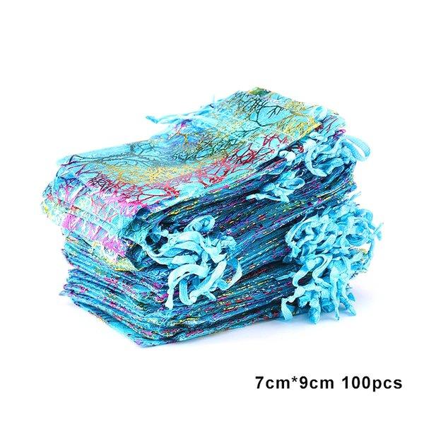 100pcs 7x9-azul