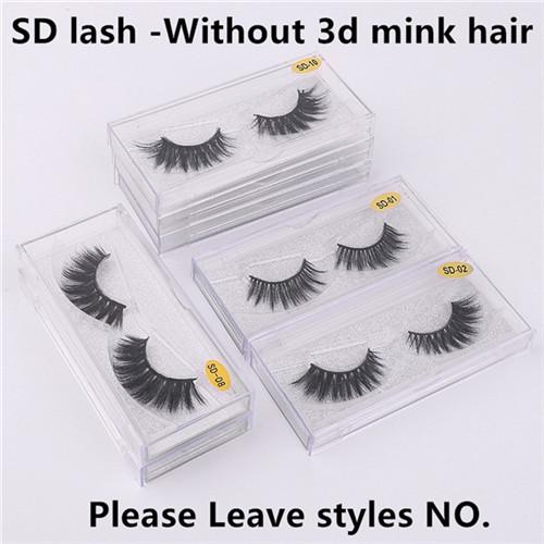 SD lashes without logo leave styles NO.