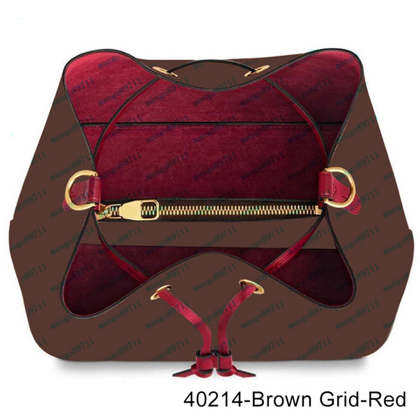 40213-Brown Grid-Red