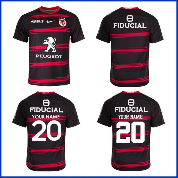 top popular 2020 2021 Toulouse Home Rugby Jersey 2019 STADE TOULOUSAIN RUGBY HOME AWAY TRAINING JERSEY size S--5XL 2020