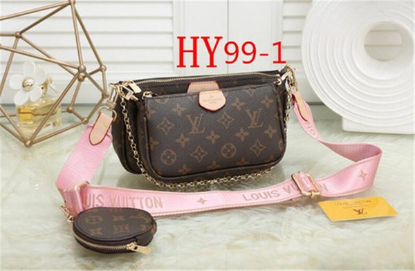 best selling Women bag new classic fashion ladies luxury designer bag shoulder messenger bag high quality handbag Printed 3-piece set