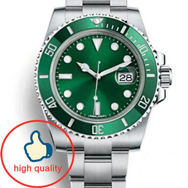 best selling Green Ceramic Bezel Mens New Green Men 2813 Mechanical Stainless Steel Luxury Automatic Movement Watch Sports Self-wind Watches Wristwatches