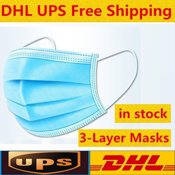 best selling Comes with a box Disposable Face Masks Thick 3-Layer Masks with Earloops for Salon, Home Use Comfortable in stock Mask