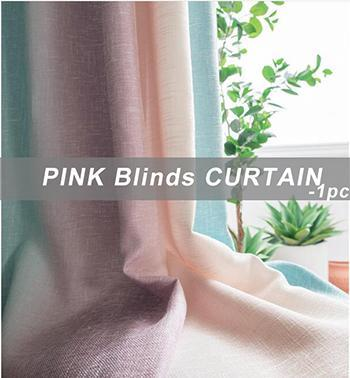 Pink Blinds Curtain