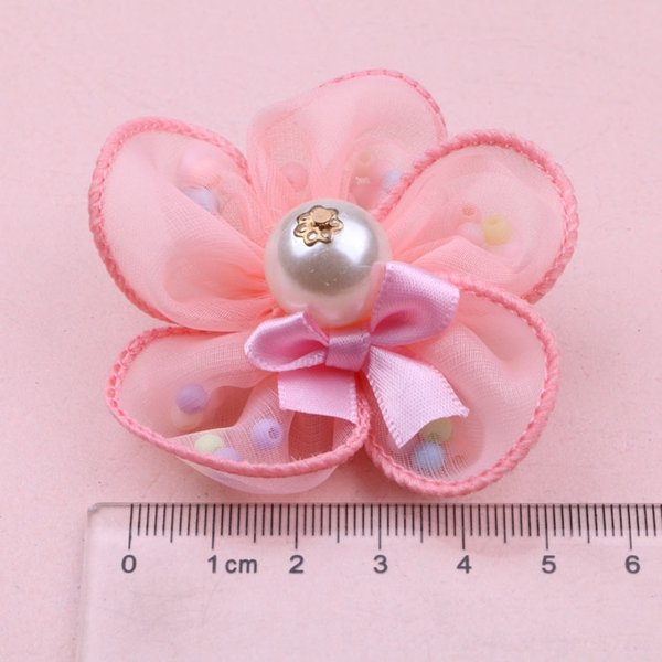 Silver Pink Colored Beads F4-6