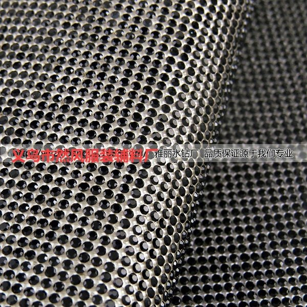 Negro real del Rhinestone de 2 mm 24x40-Ss6-2mm