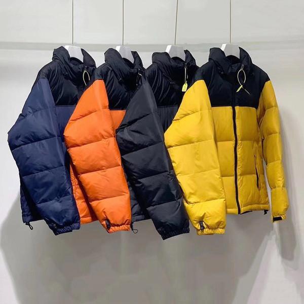 top popular Mens down jackets couple winter coats parkas white duck parka black blue orange yellow high quality women outerwear jacket M-3XL 2021