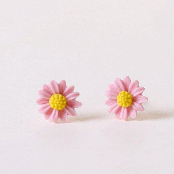 Pequeno # rosa Crisântemo Brincos