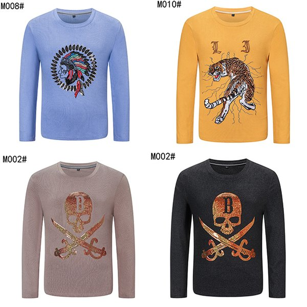 top popular NEW Mens Sweaters Stylist Hoodies Street Hip Hop High Quality Long sleeve fall winter Embroidery sequins tiger Fit Womens Mens Stylist 2020
