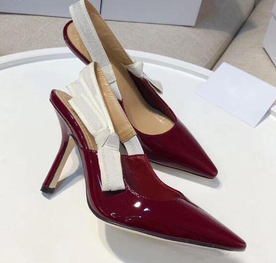 красные 9,5 см каблуки