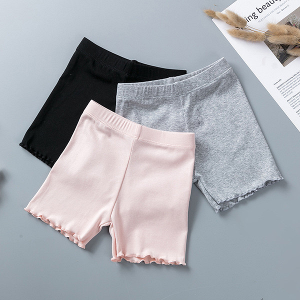 top popular 100% Cotton Girls Safety Pants Top Quality Kids Short Pants Underwear Children Summer Cute Shorts Underpants For 3-11 Years Old 2021