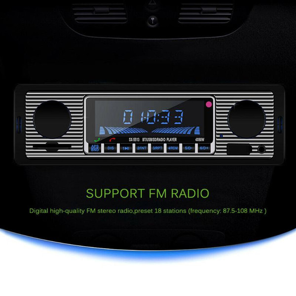 best selling USB AUX Classic Car Radio Bluetooth Stereo Player FM MP3 In-dash Head Unit with Memory Card FKU66