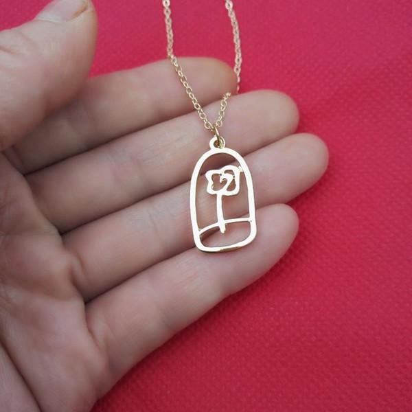 стиль 3 Золотое ожерелье