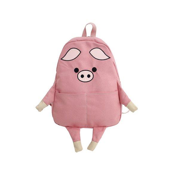 backpack pink pig