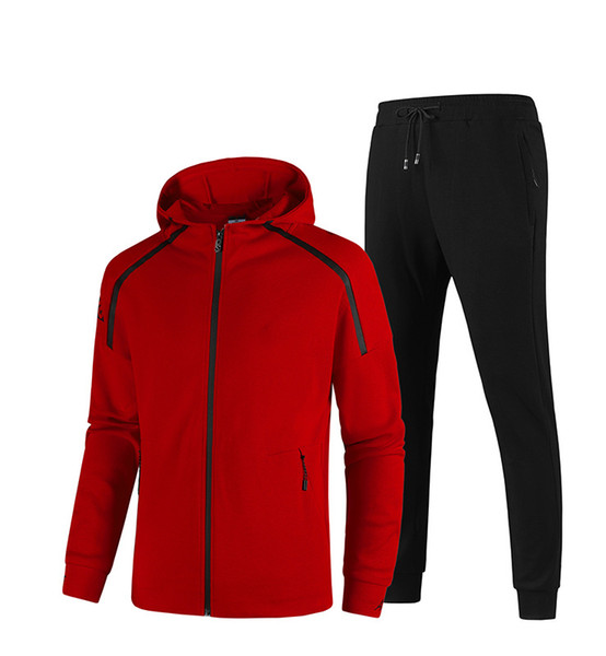 top popular Mens Tracksuits sportswear For mens jackets With Tracksuit Long Sleeve Casual Jogger Pants Suit Clothing 20 kinds 2-piece set Asian size 2020