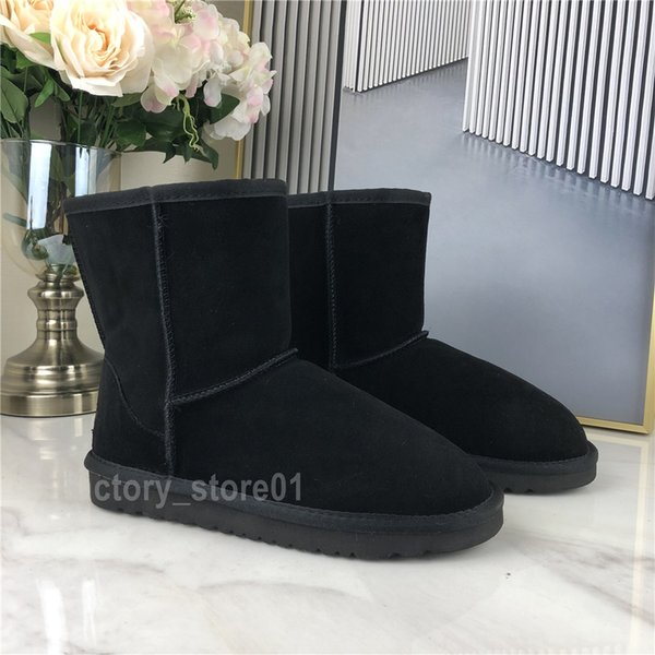 best selling Multi Styles Women Classic Snow Boots Fur Warm Ankle Short Bow Fur Half Booties Winter Black Chestnut Boot Casual Platform Shoes Christmas