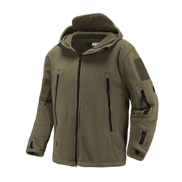 top popular New Winter US UK Army Fleece Tactical Jacket Men Thermal Warm Hooded Coat Outdoors Pro Softshell Hike Outerwear Army Jackets 2021