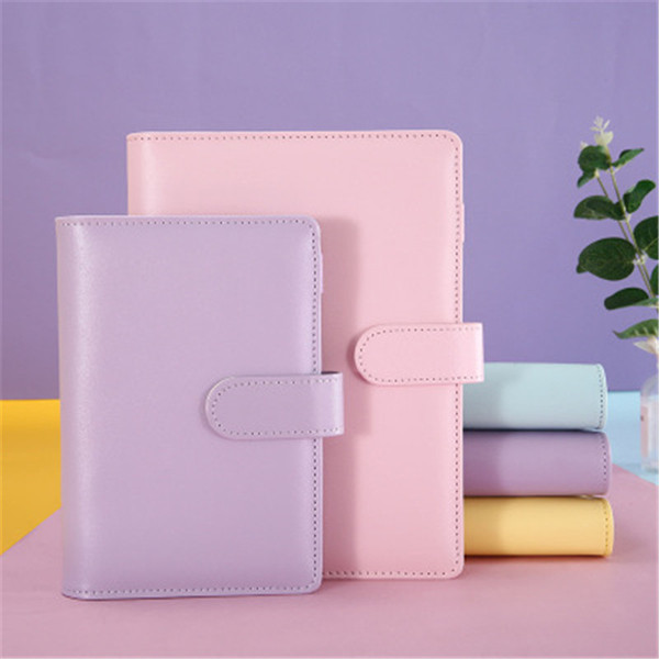 top popular A6 Notebook Binder Loose Leaf Notebooks Refillable 6 Ring Binder for A6 Filler Paper Binder Cover with Magnetic Buckle Closure STOCK 2021