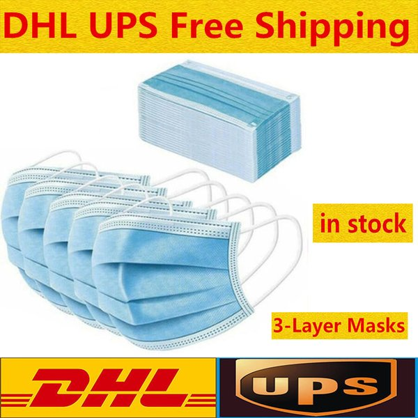 best selling In stock! 800 PCS Disposable Face Masks Thick 3-Layer Masks with Earloops for Salon, Home Use Comfortable in stock Mask