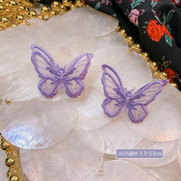 A4273 mariposa aguja de plata