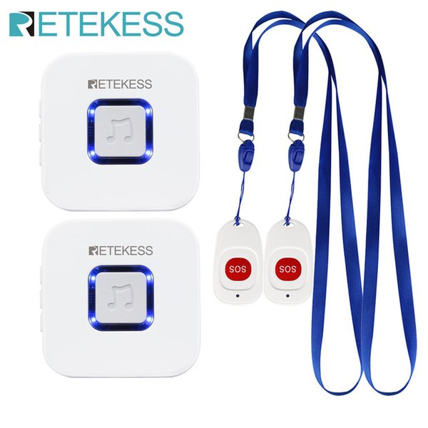 Pagers Retekess Caregiver Pager Wireless SOS Call Button Nurse Call Alert Patient Help System for Home Elderly Patient