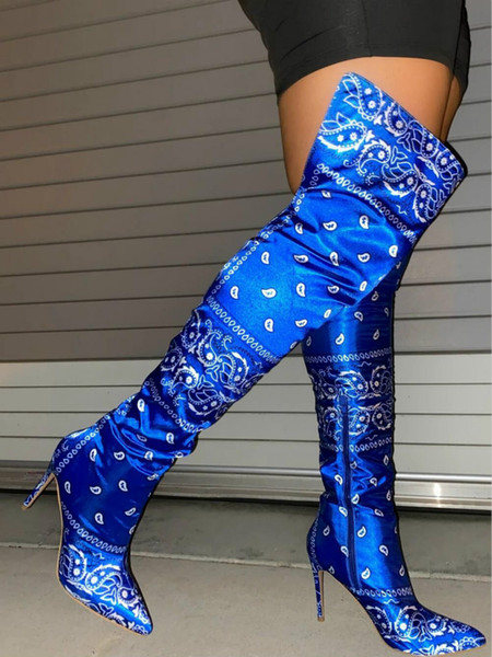 Blau Langer Stiefel