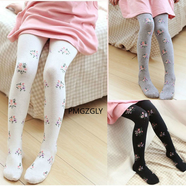 top popular 2-8 Years Girls Tights Stockings for Baby Toddler Kids Children Knitted Floral Girl Pantyhose Elastic Cotton Flower Child Style 2021