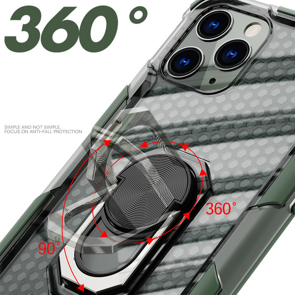 Fashion Mobile Phone Case for Iphone 12 11 Pro MAX 11 Pro 11 XSMAX XR XS / X 7P / 8P Anti-drop Case Two In One Magnetic Car