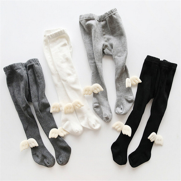best selling Toddler Baby Kids Soft Cotton Angel Wings Pantyhose Tights Hosiery Warm Stockings Children Girl Tights