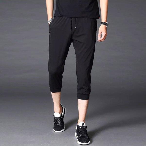 Pantalon noir pur Capri