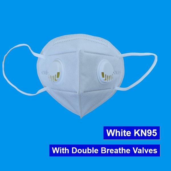 Máscara Branca Com 2 Válvulas