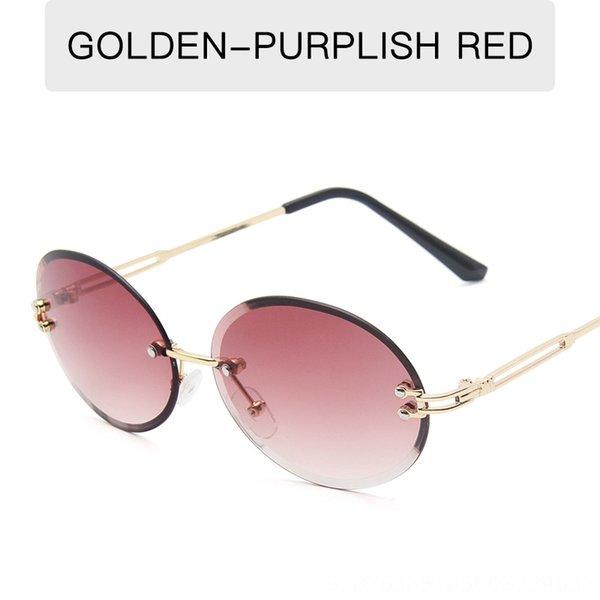 Altın Çerçeve Mor Kırmızı Dilim