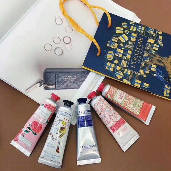 top popular Christmas gift hand cream Iron box gift set assembly gift bag Spring Earth hand cream 30ml*5 moisturizing skin care free shipping 2021