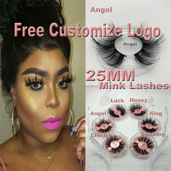 top popular NEW 5D Mink Eyelashes 25mm 3D Mink Eyelash False Eyelashes Big Dramatic Volumn Mink Lashes Makeup Eye Lashes 2021