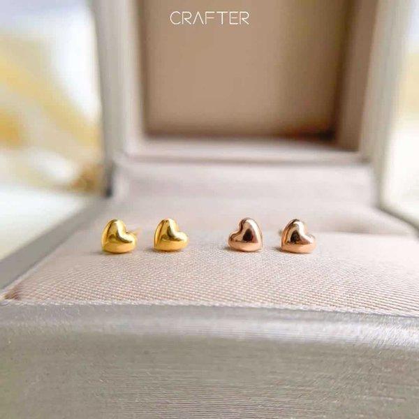 18k Gold Love Earrings-k Red