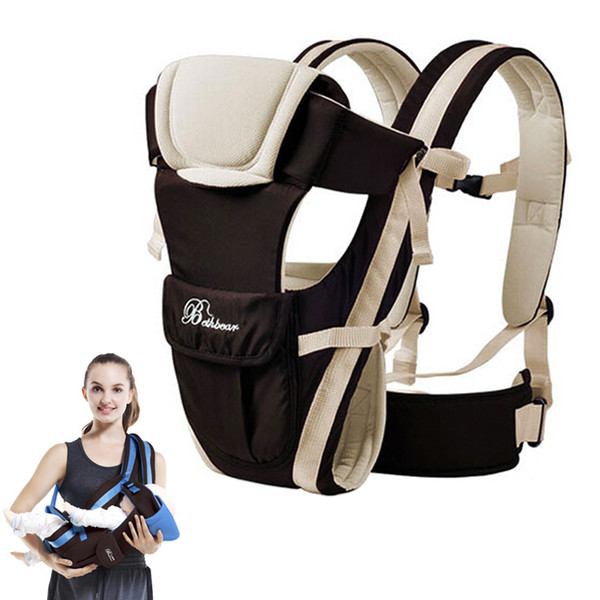 best selling Beth Bear Baby Carrier 0-30 Months Breathable Front Facing 4 in 1 Infant Comfortable Sling Backpack Pouch Wrap Baby Kangaroo New C0922