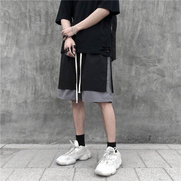 LTT-618 # Shorts-черный серый