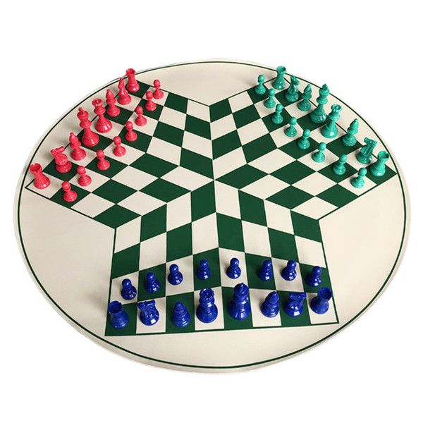 best selling Three Player International Chess Checker Pieces With Chess Board Chess Set