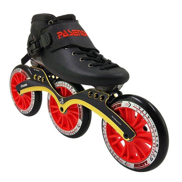3x125mm ruedas rojas