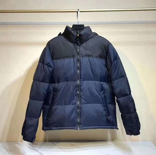 N style(no fur,have hooded)Navy blue