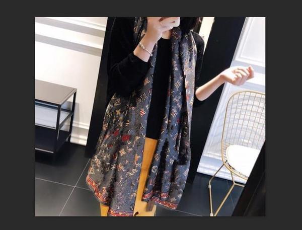 best selling Luxury Silk Scarf Pashmina for Women Hot Sale Designer Ladies Summer Autumn Long Scarves Neck Wrap 180x90Cm Shawls Scarfs Dropship