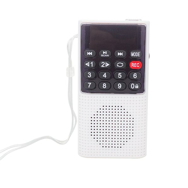 top popular L-328 Mini Portable Pocket FM Auto Scan Radio Music o MP3 Player Outdoor Small Speaker with Voice Recorder(Silver) 2021