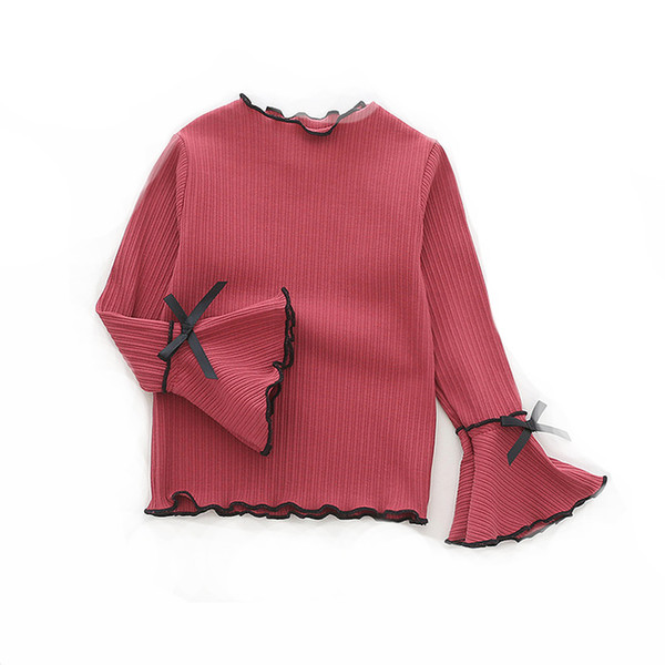 Baby Girls Blouses For 1-6Yrs Autumn Fall Baby Kids Clothes Fashion Children Clothing School Girl Shirt Cotton Child bow Blusas Children Clothing School Girl Shirt Cotton Child