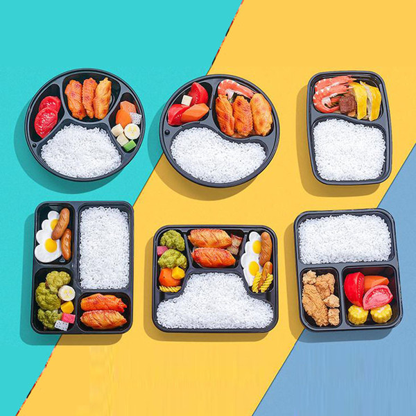 best selling 3 Or 4 Compartment Reusable Plastic Food dinner Storage Boxes With Lids Disposable Take Out Containers Lunch Box Microwavable Supplies